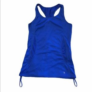 Danskin Now MEDIUM Racerback Blue Athletic Top